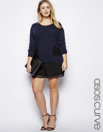 ASOS Curve Exclusive Culotte with Lace Hem. ASOS.com. $30.10.