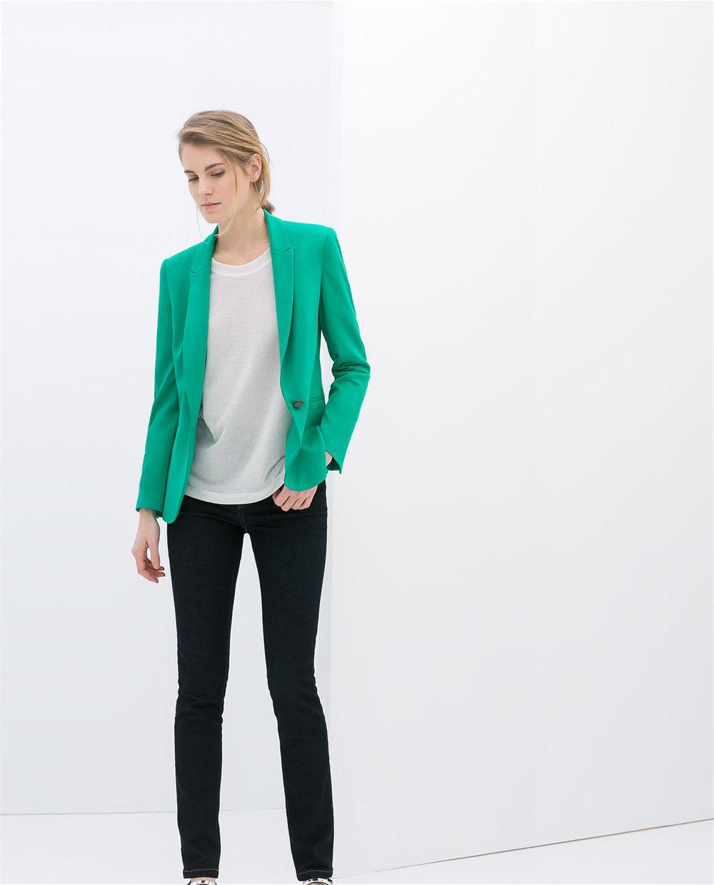 Casual blazer. Zara. $79.90.