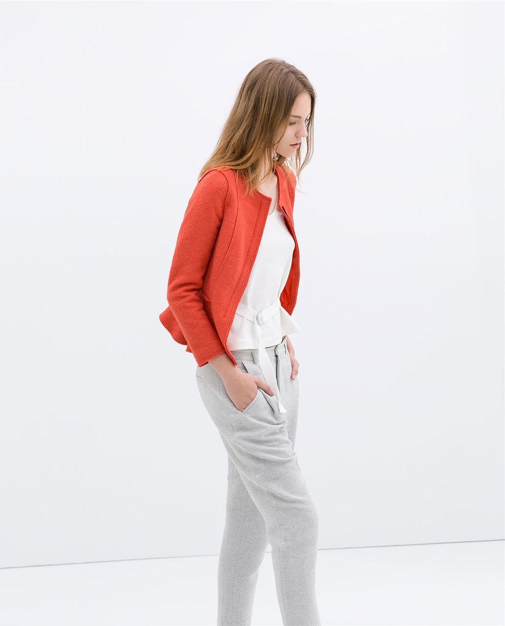 Wool blazer. Zara. $99.90.