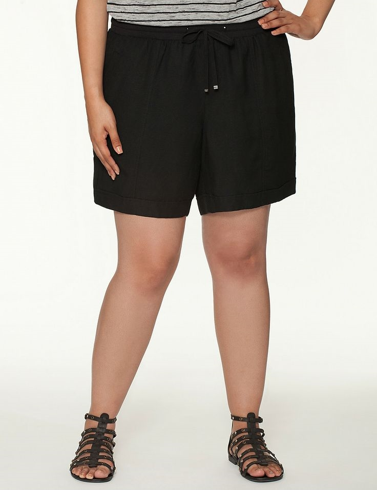 Knit Waist Linen Short. Lane Bryant. $49.95.