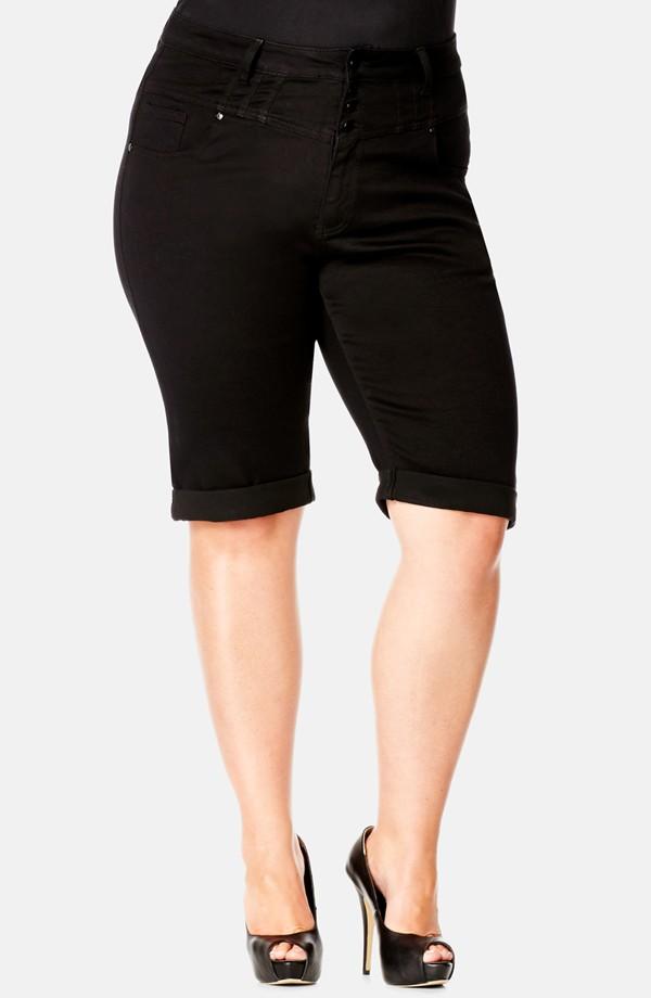 City Chic High waist denim bermuda shorts. (Plus size). Nordstrom. $58.