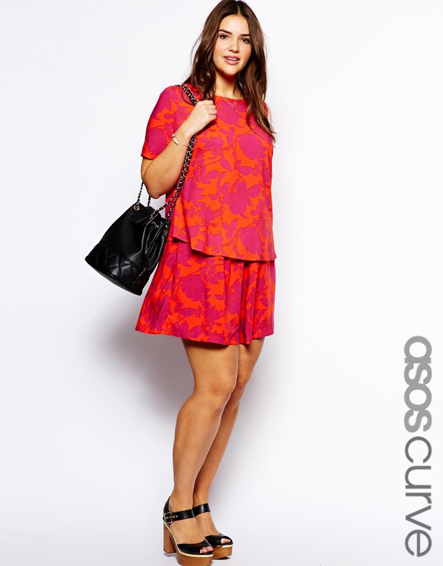 ASOS Curve Culottes in tropical floral print. ASOS. $37.63.