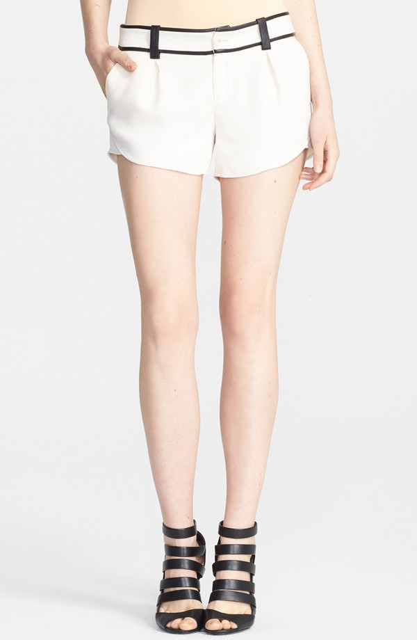 Alice + Olivia Leather trim butterfly shorts. Nordstrom. $265.