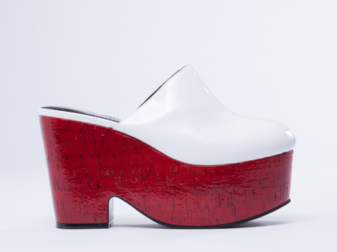 Chloe Platform mule by Chloe Sevigny for Opening Ceremony. Available in white, black. (I have white with the black sole.) Solestruck. Was: $399.95 Now: $136.46.