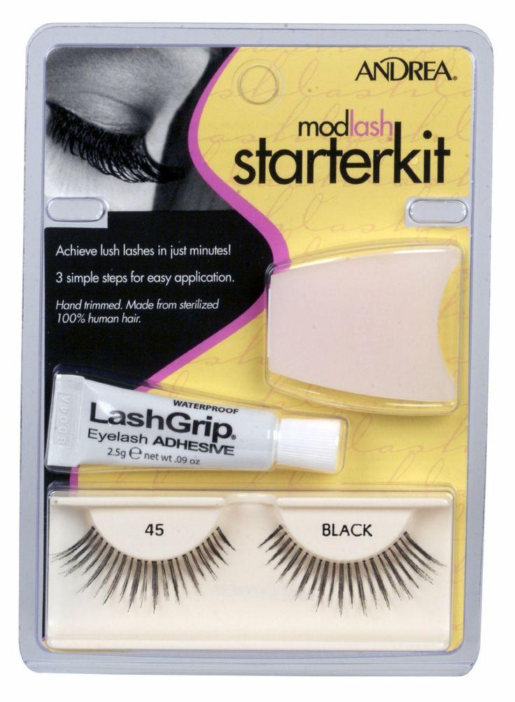 Andrea Strip Lashes starter kit #45. Amazon. $11.90.