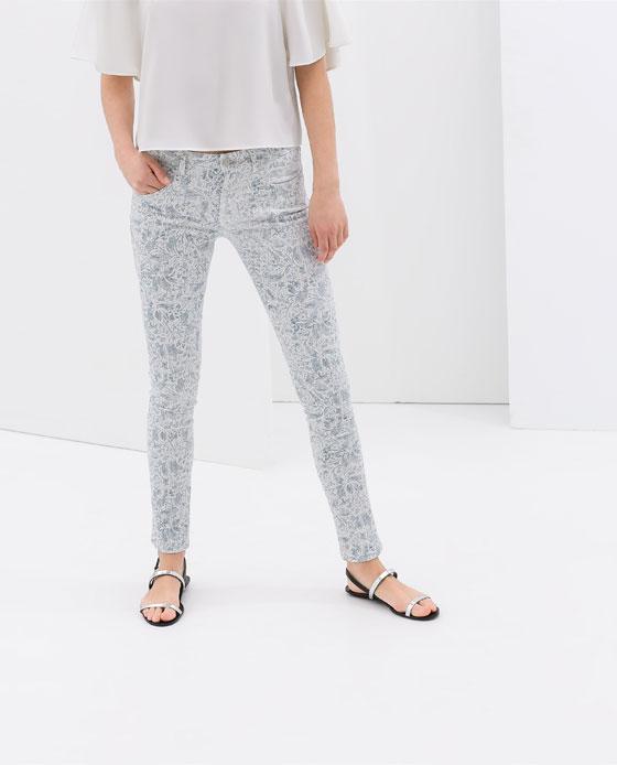 Printed trousers. Zara. $49.90.