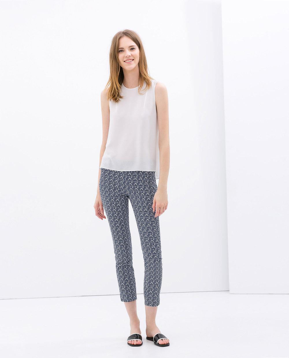 Geometric print trousers. Zara. $69.90.