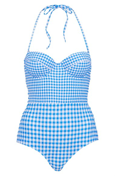 Topshop Gingham one piece swimsuit. Nordstrom. $72.