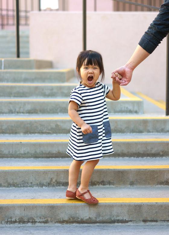 Trendy sandal $35.90, striped dress $19.90. Zara Kids.