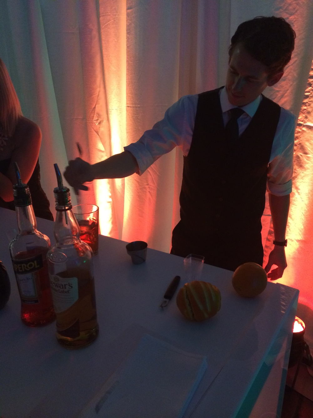 Just one of the genius bartenders serving up wine and chocolate pairings throughout the room.