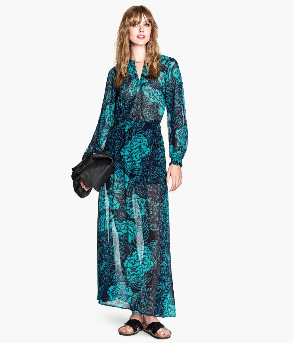 Long patterned dress. H&M. $49.95.