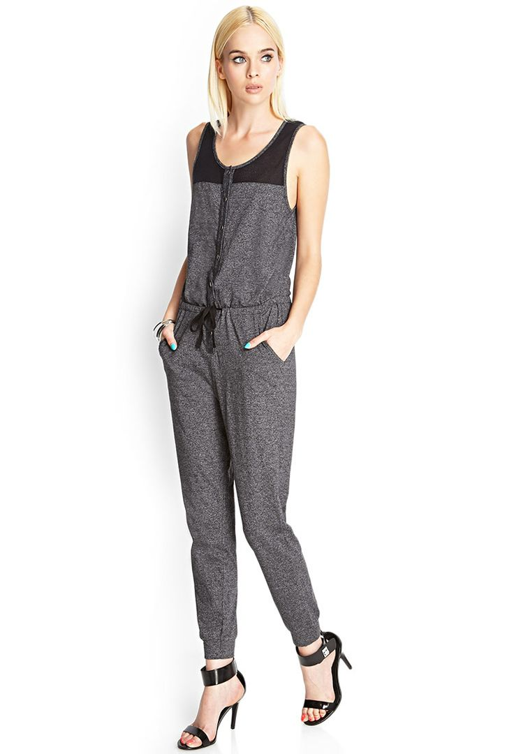 Mesh paneled jumpsuit. Forever 21. $22.80.