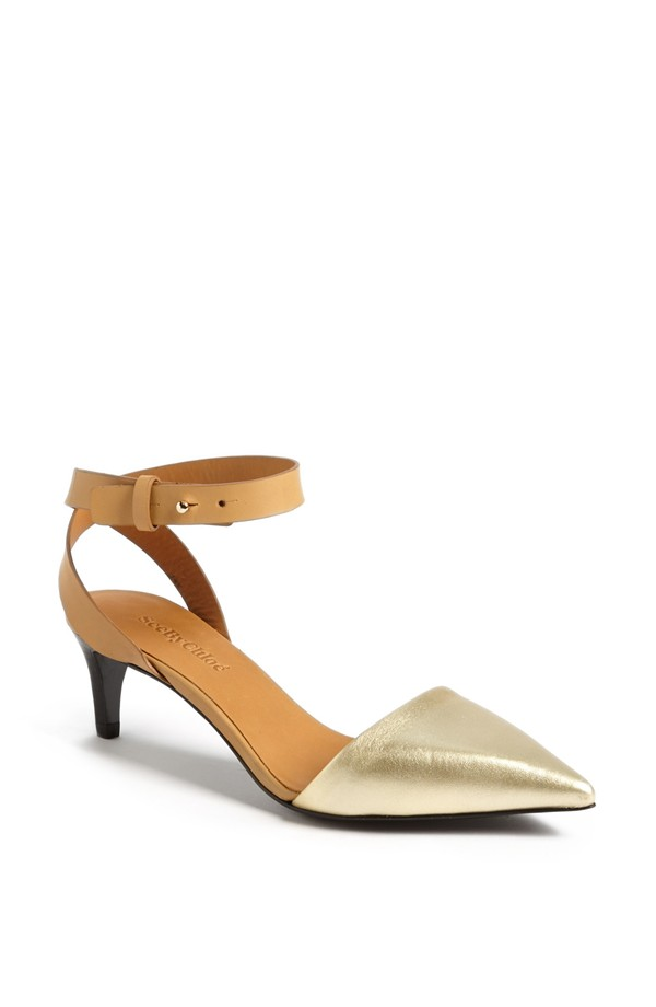 Chloe Hera Ankle strap D'Orsay pump. Nordstrom. Was: $295 Now: $176.
