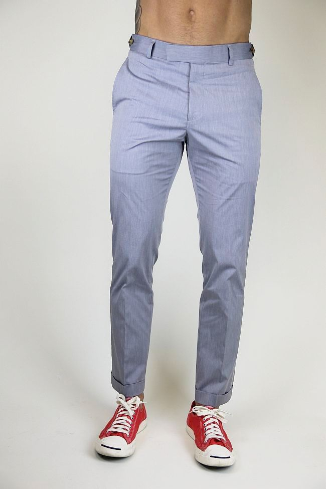 Steven Alan Oliver pant in steel blue. Ian. $265.
