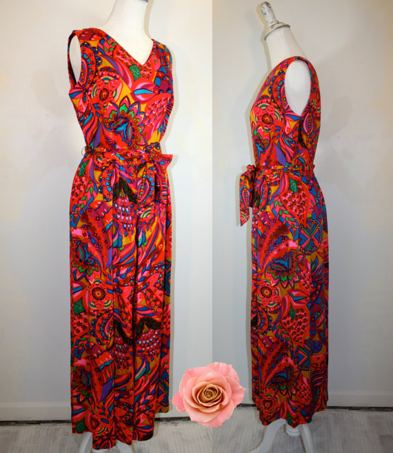 Vintage 1960's Hawaiian Aloha Hawaiian print pants romper by Alice. Thecitizenrosebud. $34.