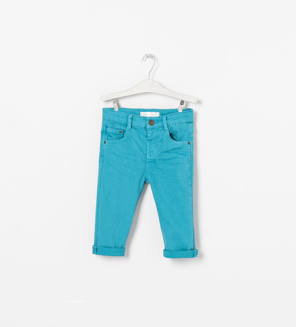 Twill trousers. Baby boy 3 months to 3 years. Zara Kids. $19.90.