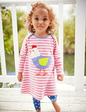 Mini Boden (0-3 years) Applique jersey dress. BodenUSA. Was: $38 Now:  $22.80-$26.60