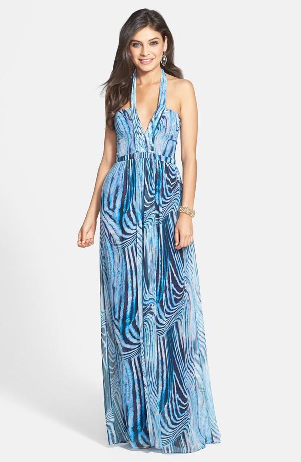 BCBGMAXAZRIA Starr print georgette halter dress. Nordstrom. $368.