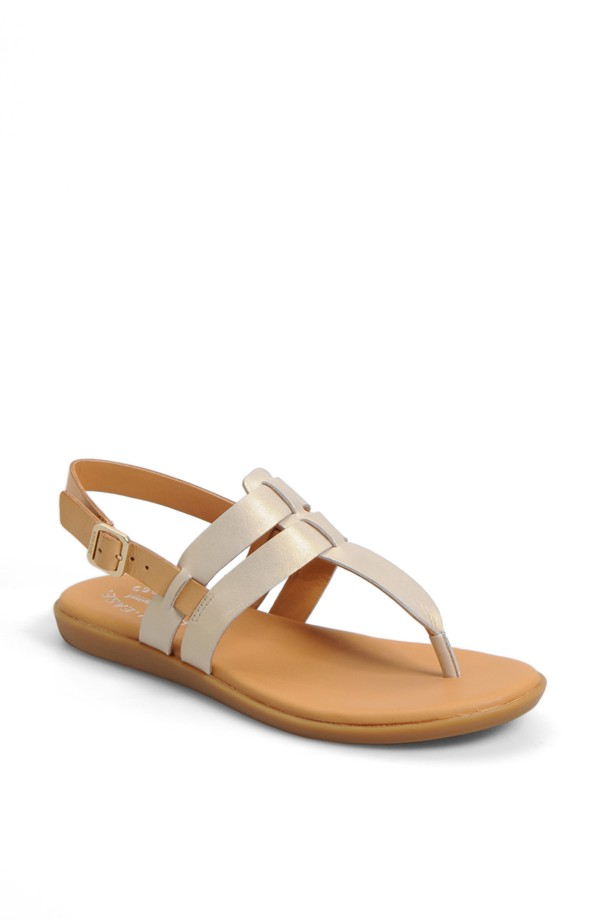 Kork-Ease Amara sandal. Available in white/ neutral, black/rust. Nordstrom. $124.95.
