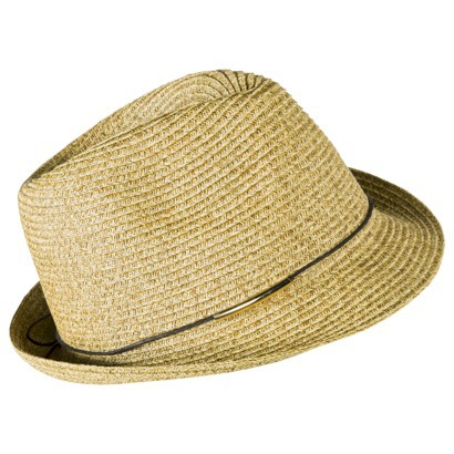 Mossimo Fedora hat with brown tie. Target. $12.99.