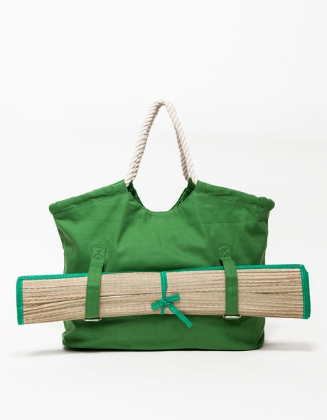 Beach tote with mat. Available in multiple colors. Use it year-round by replacing the mat with your yoga mat! Need Supply. $110.