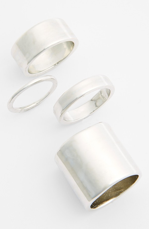 Leith statement rings (set of 4). Available in silver, gold. Nordstrom. $24.