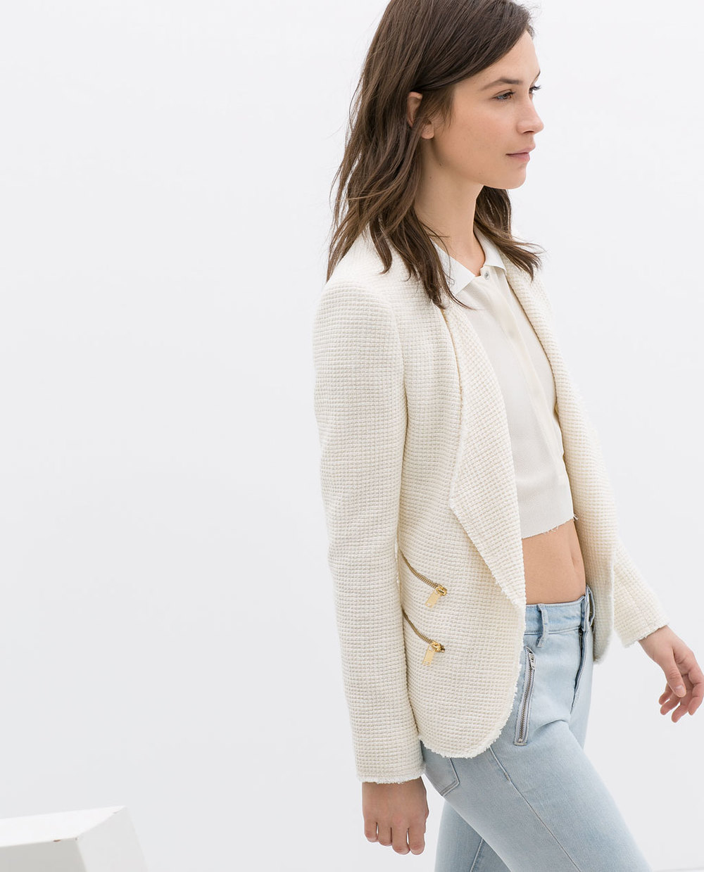 Structured jacket with zips. Zara. Was: $139 Now: $99.