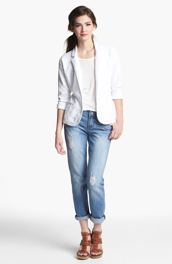 KUT from the Kloth Catherine Distressed slim boyfriend jeans. Nordstrom. $79.