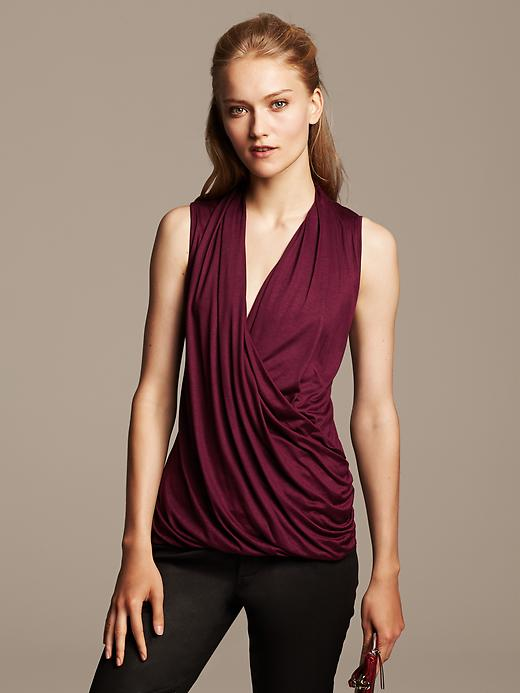 Draped wrap top. Available in multiple colors. Banana Republic. $39.50.