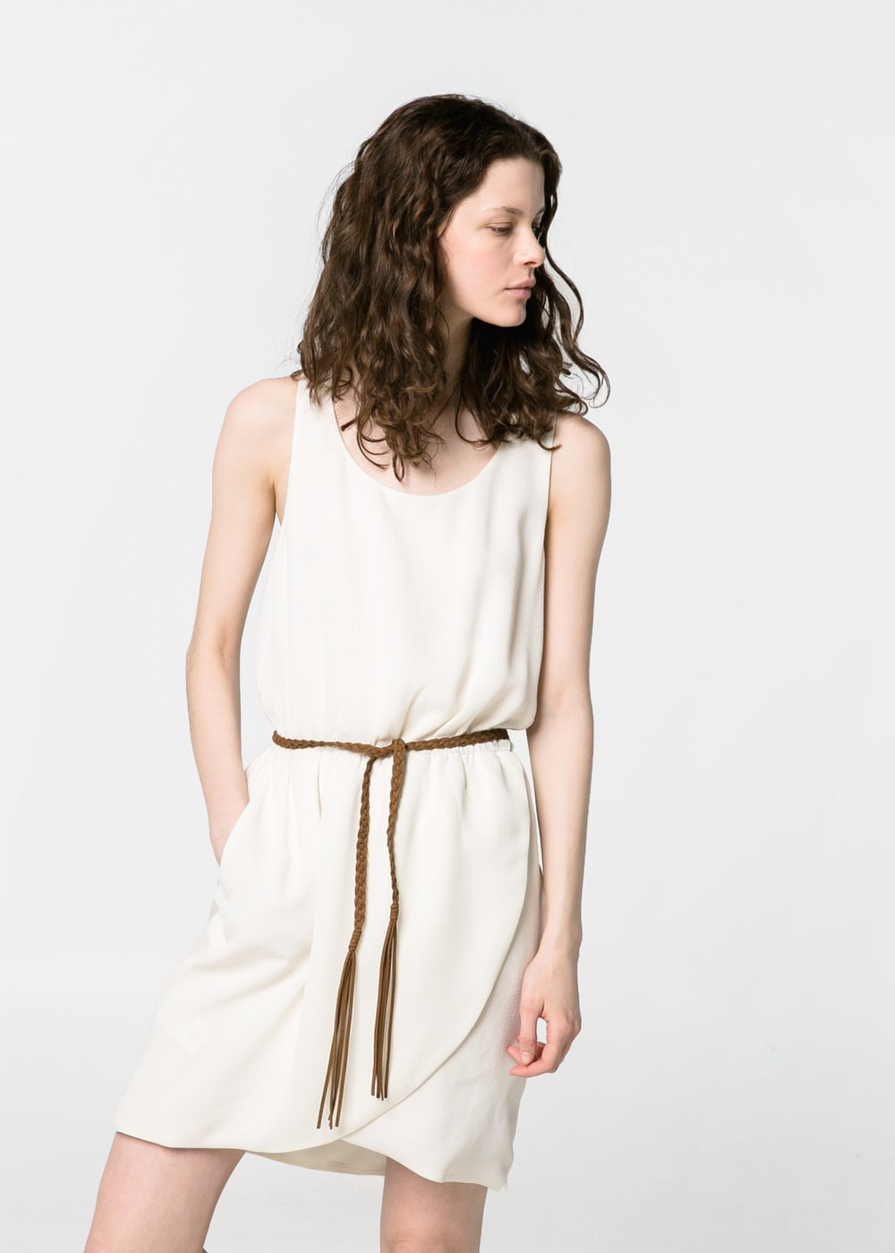 Textured Wrap Dress. Mango. $59.99