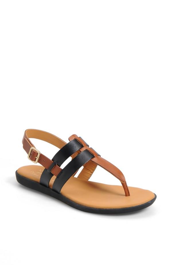 Kork Ease Amara sandal. Available in black/ rust, white/natural. Nordstrom. $124.95.