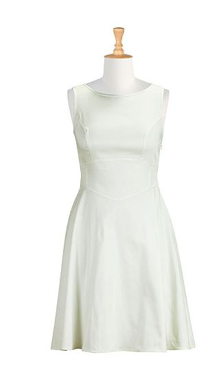 Summer White Cotton Sateen Dress. eShakti.com. $79.95.