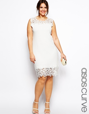 Shift Dress with Lace Trim. ASOS Curve. $85.74.