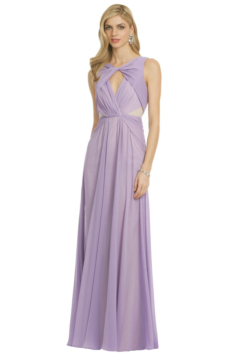 Pastel Petunia gown by Badgley Mischka. Rent the Runway. $80 rental.