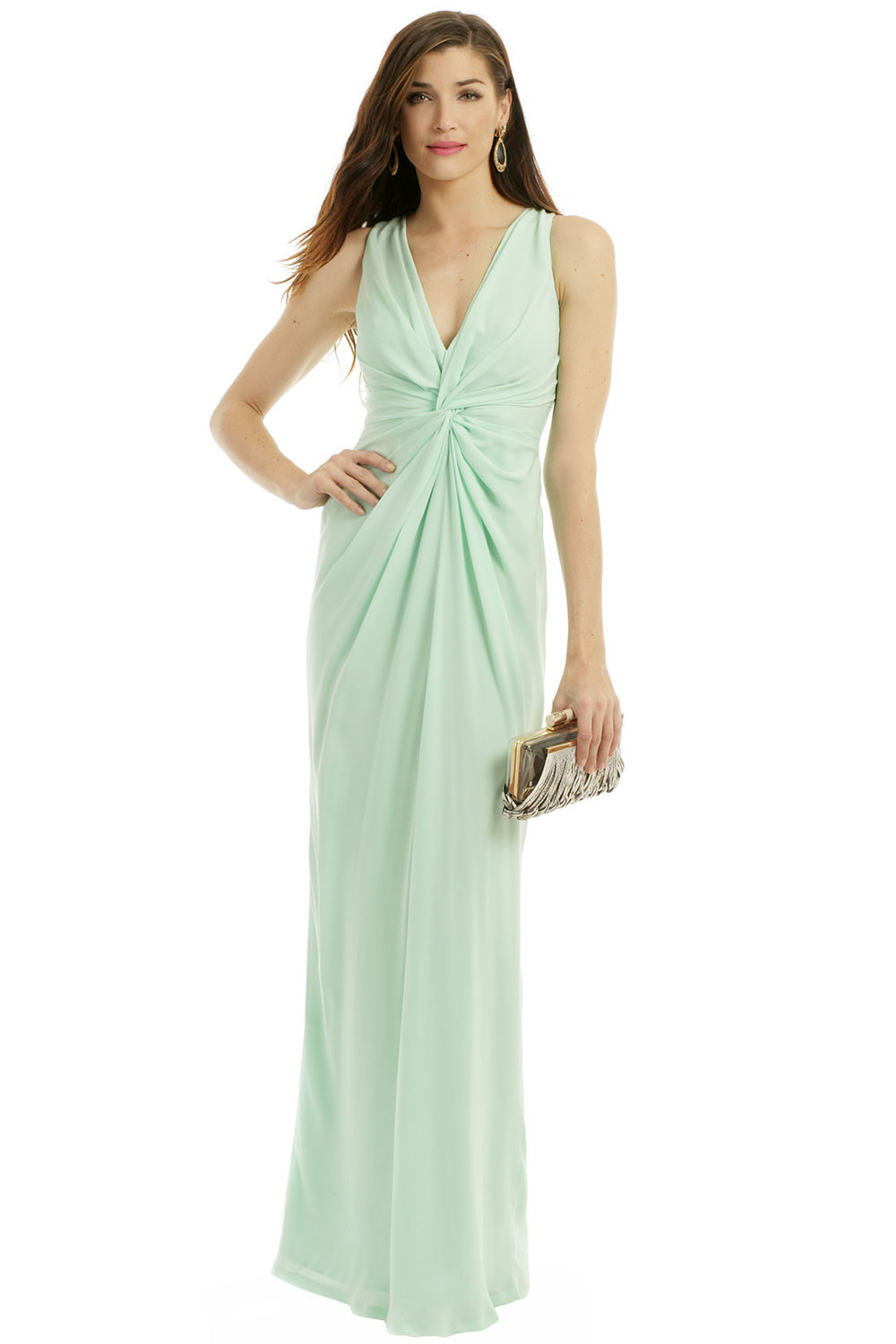 Minty Fresh Gown by Raoul. Rent the Runway. $150 rental.