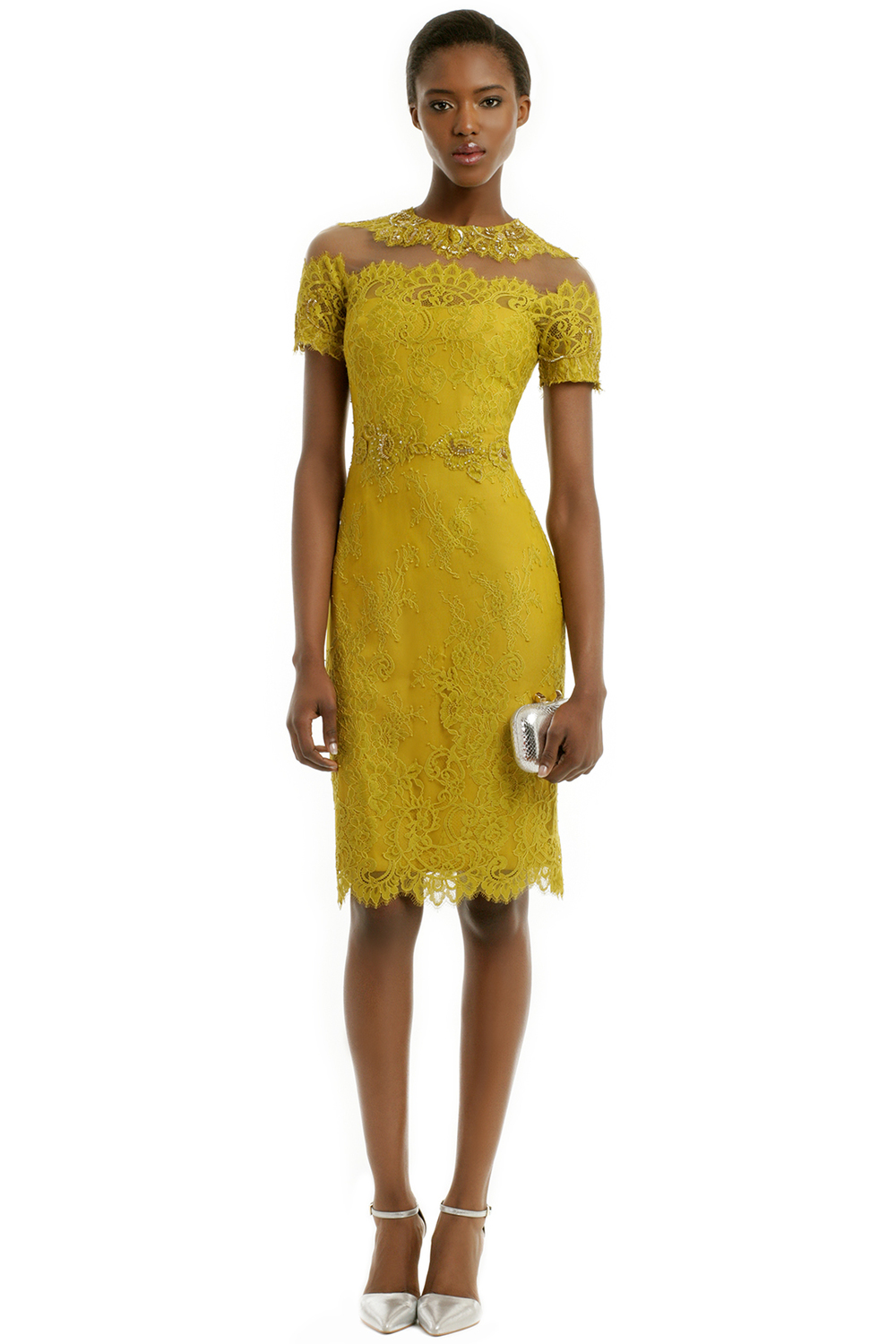 Lupita dress by Marchesa Notte. Rent the Runway. $125 rental.