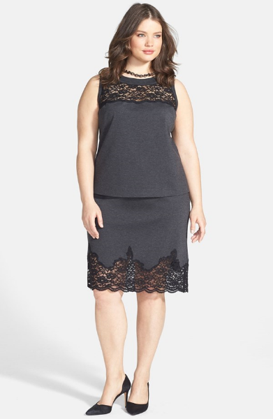 Vince Camuto Lace Yoke Sleeveless Blouse. Nordstrom.com. Sale $88.90. Regular $134.00 Vince Camuto Lace Panel Pencil Skirt. Nordstrom.com. Sale $88.90. Regular $134.00