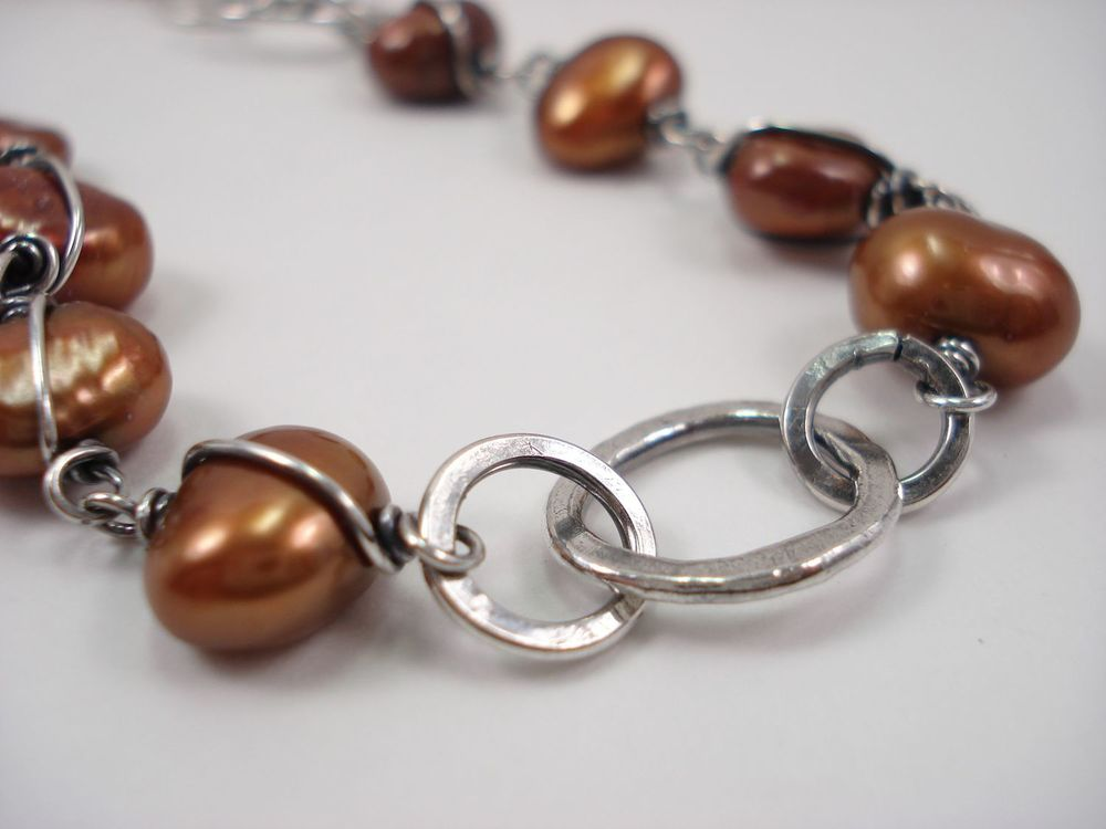 Copper and Silver necklace. Jill Griffin Jewelry. $178. Code: Poplin for a 25% discount
