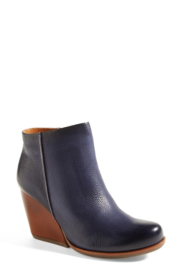 Kork-Ease Natalya Burnished leather demi wedge boot. Available in navy, burgundy, tan. Nordstrom. Was: $189.95 Anniversary Sale price: $124.90.