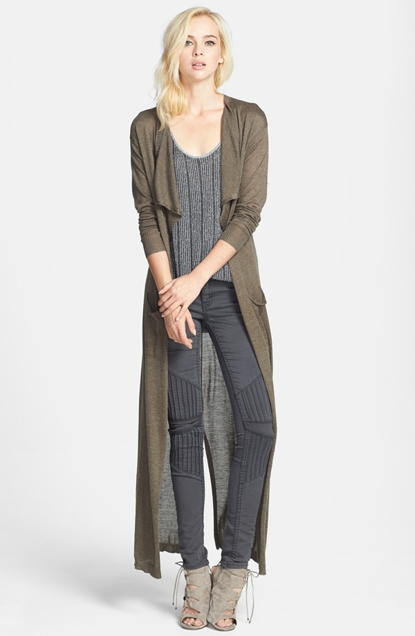 Leith drape front duster cardigan. Available in olive, charcoal. Nordstrom. Was: $78 Anniversary price: $49.90.