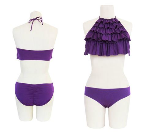 Jillian Ruffle Bikini. www.chikaradesign.com. $120.
