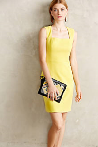 Anthropologie Calendula Sheath Dress. $285.