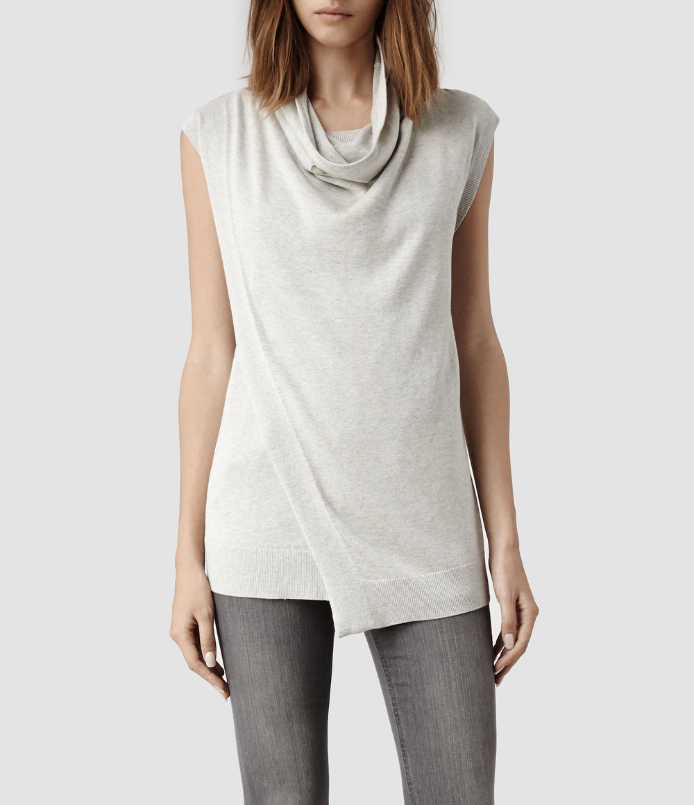 Verney Tank. Available in oyster, black. All Saints. $178.