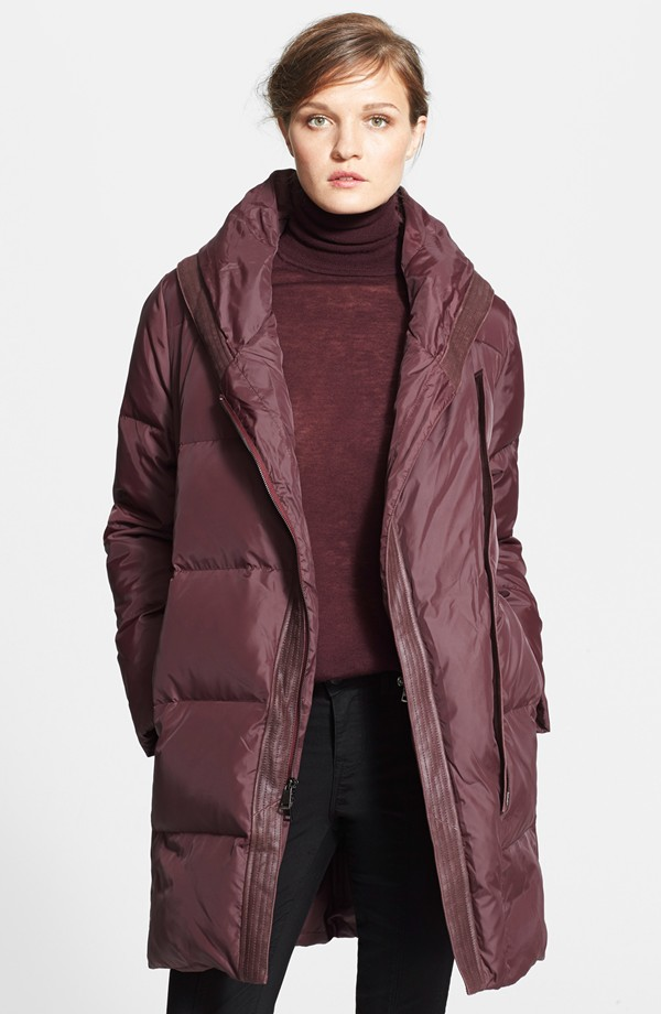 Vince Shawl Collar Puffer Coat. Available in black, shiraz. Nordstrom. $895.