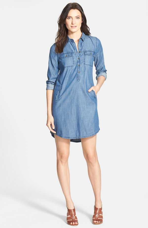 Eileen Fisher Classic Collar Chambray Shirtdress. Nordstrom. $218.