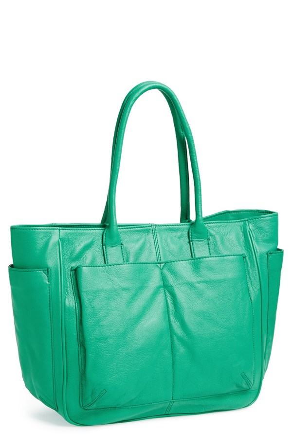 Steven by Steve Madden Bassett Leather tote. Available in palm, black, luggage, stone. Nordstrom. $198.