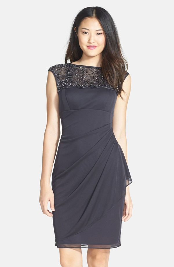 Xscape Beaded Jersey Sheath Dress. Nordstrom. $198.