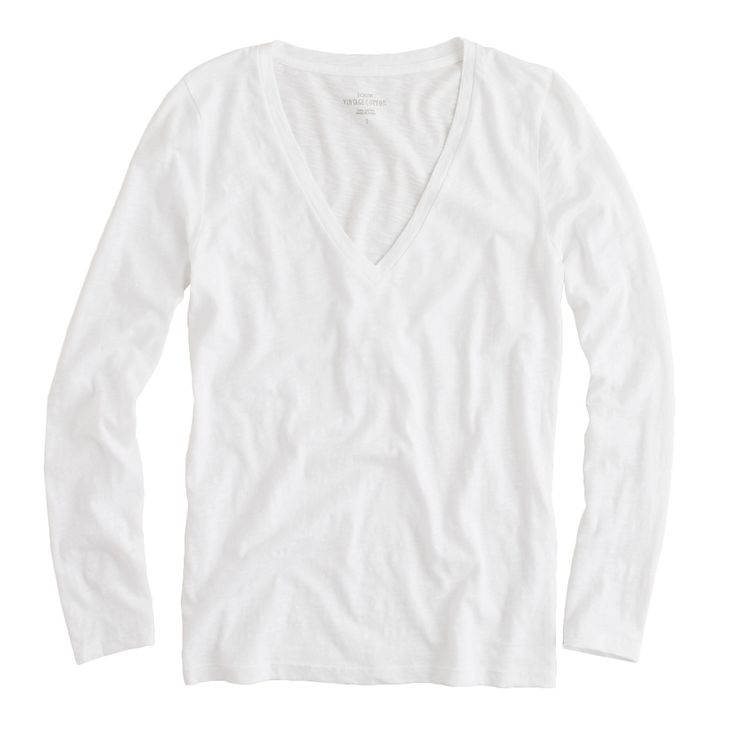 Vintage Cotton Long Sleeve V Neck Tee. Available in multiple colors. J Crew. Was: $34.95 Now: 25% off with code: NOWANDLATER