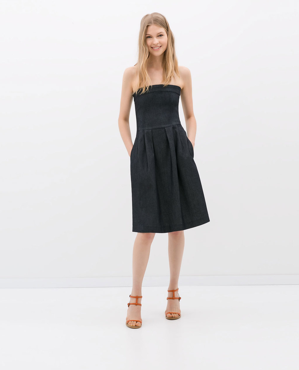 Denim dress. Zara. $59.90.