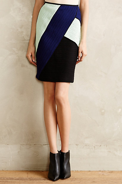 Colorblocked Pencil Skirt. Available in black motif, red motif. Anthropologie. $138.